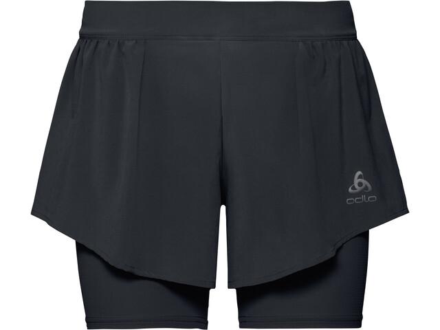Odlo Zeroweight Ceramicool PRO 2 in 1 Shorts Women black